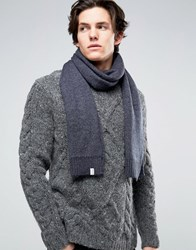 Selected Homme Scarf Grey Navy