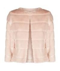 Ted Baker Fabunni Cropped Faux Fur Jacket Nude