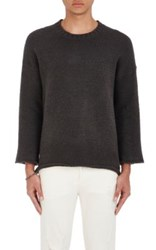 Iro Men's Sido Cotton Blend Oversized Sweater Grey