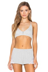Free People Connor Rib Bralette Grey