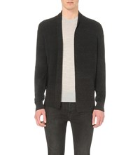 Allsaints Esk Military Knitted Cardigan Cinder Black M