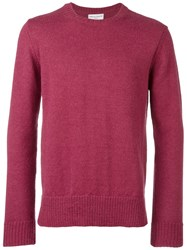Officine Generale Crew Neck Jumper Pink Purple