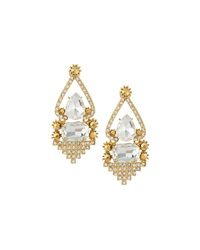 Greenbeads By Emily And Ashley Crystal Rhinestone Statement Earrings