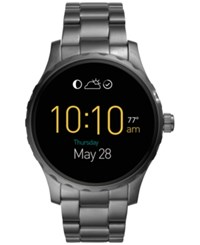 Fossil Men's Digital Q Marshal Smoke Tone Ion Plated Stainless Steel Bracelet Smart Watch 45Mm Ftw2108 Gray