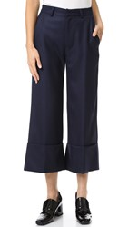 Sea Cuffed Pants Navy