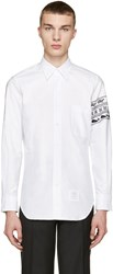 Thom Browne White Animal Armband Shirt