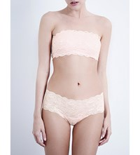Cosabella Never Say Never Lace Bandeau Bra Pink Lily