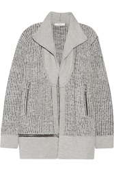 Iro Knitted Wool Cardigan Gray