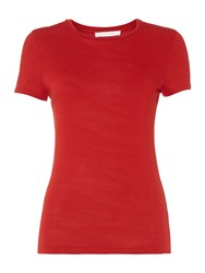 Hugo Boss Edonesa Tonal Zebra Stripe Tshirt Red