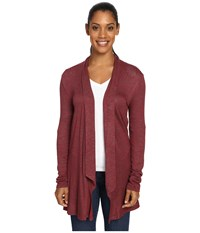 Aventura Clothing Claire Wrap Gypsy Red Women's Sweater Gray