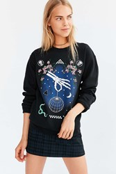 Silence And Noise Skeleton Disco Pullover Sweatshirt Black