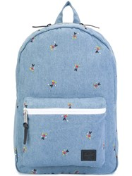 Herschel Supply Co. Denim Backpack Blue
