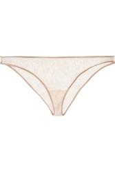 Kiki De Montparnasse Nudite Chantilly Lace Briefs