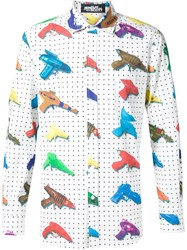 Jeremy Scott Watergun Print Shirt White
