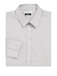 Versace Wave Pattern Dress Shirt Grey White
