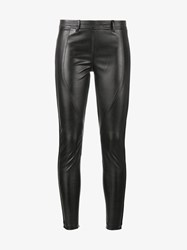 Faith Connexion Racer Faux Leather Slim Fit Trousers Black Red