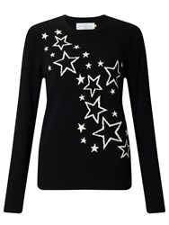 John Lewis Collection Weekend By Scattered Star Intarsia Jumper Black