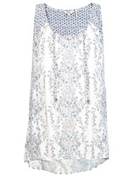 Fat Face Kingston Sunset Patch Longline Top White