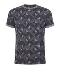 Ted Baker Geo Printed T Shirt Male Grey
