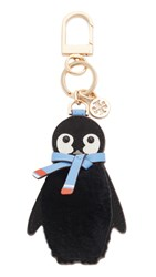 Tory Burch Pete Penguin Key Chain Dark Nicotine