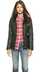Hunter Women's Original Waxed Utility Jacket Forest Green