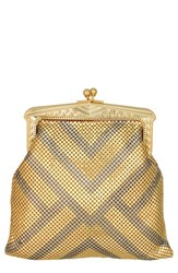 Whiting And Davis 'Heritage Poiret' Mesh Clutch Metallic Matte Gold Matte Silver