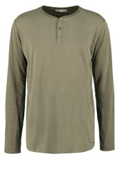 Solid Farzad Long Sleeved Top Ivy Green Oliv