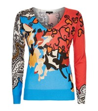 Etro Floral Paisley Silk Cashmere Sweater Female Multi