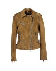 Le Sentier Leatherwear Leather Outerwear Women Khaki