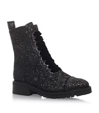 Kg By Kurt Geiger Sparkle Glitter Boots Female Black