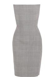 Gareth Pugh Prince Of Wales Checked Wool Dress Gray