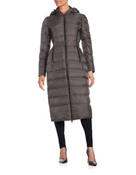Vince Camuto Long Belted Puffer Coat Iron