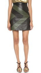 Ungaro Leather Skirt Black