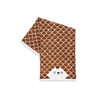 House Of Rym Cuddle Me Cuddly Baby Blanket Oh What A Friendly Face Brown