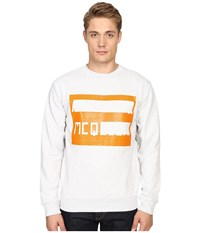Mcq By Alexander Mcqueen Clean Crew Neck Gavin Melange Men's Long Sleeve Pullover White