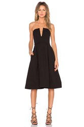 Nicholas Ponti Strapless Ball Dress Black