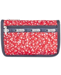 Le Sport Sac Lesportsac Boxed Travel Cosmetics Case Sailing Floral Red
