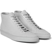 Common Projects Original Achilles Leather High Top Sneakers Light Gray