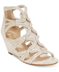 Bar Iii Kaylan Wedge Dress Sandals Only At Macy's Women's Shoes Platino