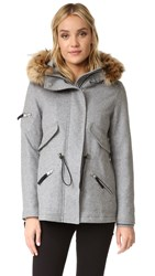 Sam. Mini Delancey Wool Coat Heather Grey Natural
