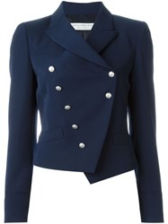 Philosophy Di Lorenzo Serafini Double Breasted Fitted Jacket Blue