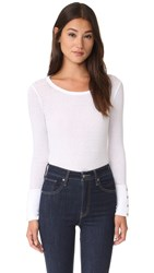 Chaser Button Cuff Tee White