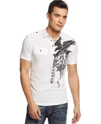 Inc International Concepts Raining Stripes Polo White