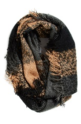 Collection Xiix Plaid Woven Infinity Scarf Black