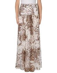 Blumarine Long Skirts Khaki