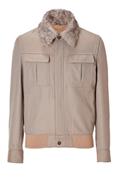 Maison Martin Margiela Wool Jacket With Removable Fur Collar