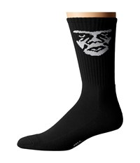 Obey Creeper Socks Black Men's Crew Cut Socks Shoes