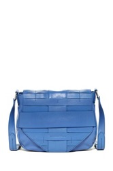 Christopher Kon Pannier Weave Leather Crossbody Blue