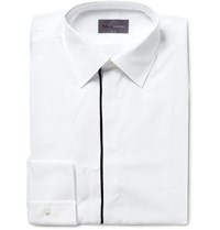 Kilgour Slim Fit Contrast Tipped Cotton Shirt White