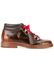 Tod's Lace Up Boots Brown